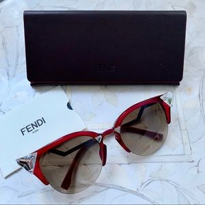 7d4483dfa5e Fendi Iridia crystal cat eye sunglasses